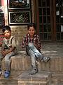 Children in Ribat-i-Abbasi of Nishapur (Hossein - Ali - Fatemeh - Hengameh and another girl - probably Afghani) 39.jpg