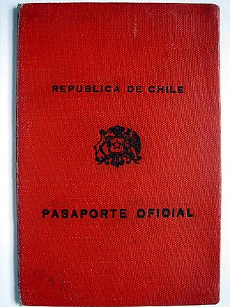 Chilean passport - Image: Chilean official passport 1957