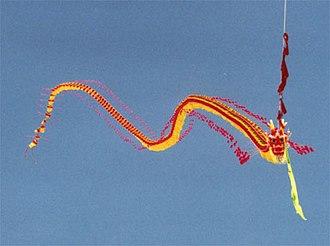Kite types - Image: Chinese dragon kite (Berkeley, California 2000)