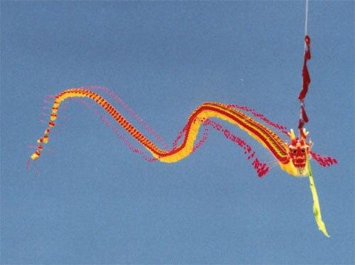 Chinese dragon kite (Berkeley, California - 2000)
