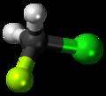 Chlorofluoromethane 3D ball.png