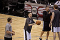 Chris Quinn Spurs shooting practice Spurs-Magic017.jpg