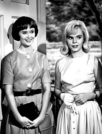 Christine White (actress) - Christine White (left) and Jenny Maxwell in the series Ichabod and Me (1962)
