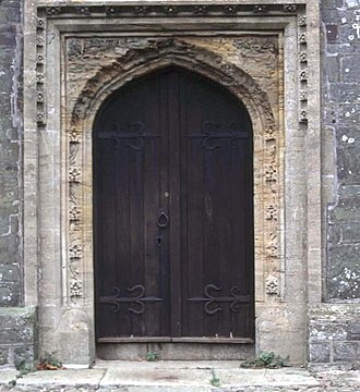 St Andrew's Church, Stratton - Church door