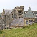 Church and Castle at Aberystwyth, Wales - take 2 (36874831512).jpg