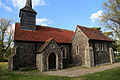 Church of St Mary, Stapleford Tawney, Essex, England - porch and nave from the south-west.jpg