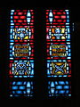 Church of the Holy Family (Grand Blanc, Michigan) - interior, stained glass, Easter, Annuciation, Passion and Palm Sunday.jpg