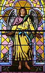 Church of the Sacred Heart (Coshocton, Ohio) - stained glass, Holy Angel.JPG