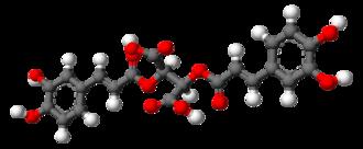 Cichoric acid - Image: Cichoric acid 3D balls