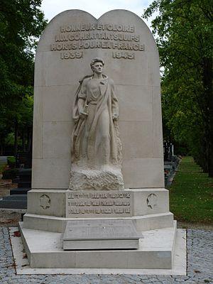 Cimetière parisien de Bagneux - Image: Cimetiere de bagneux monument combattants juifs