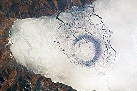 Circles in Thin Ice, Lake Baikal, Russia