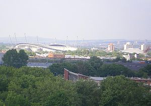 Sportcity - Sportcity with City of Manchester Stadium (left) and Manchester Velodrome (right)