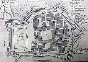 History of Zamość - City plan XVII