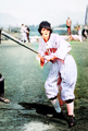 Clara Bow Hollywood Baseball, 1926 colorized by Cody Belles.png