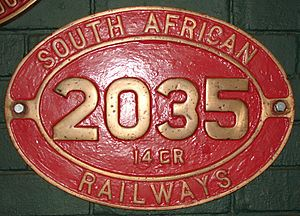 South African Class 14C 4-8-2, 4th batch - Image: Class 14CR 2035 (4 8 2) ID