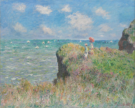 Claude Monet - Cliff Walk at Pourville - Google Art Project