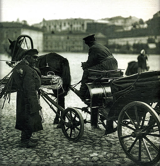 Coachman and whip seller, 1896