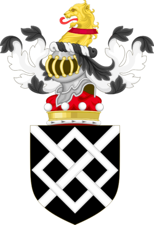Harington baronets - Image: Coat of Arms of Baron Harington