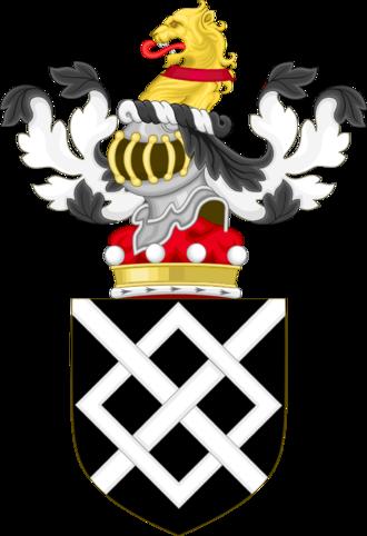 Kit Harington - Coat of Arms of the Harington baronets, ancestors of Kit Harington