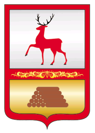 Semyonov, Nizhny Novgorod Oblast - Image: Coat of arms of Semyonovsky urban district, Nizhny Novgorod Oblast