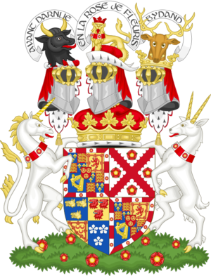 Duke of Richmond - Image: Coat of arms of the duke of Richmond, Lennox and Gordon
