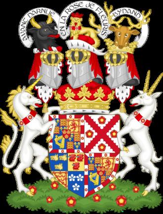 Duke of Richmond - Image: Coat of arms of the duke of Richmond, Lennox and Gordon