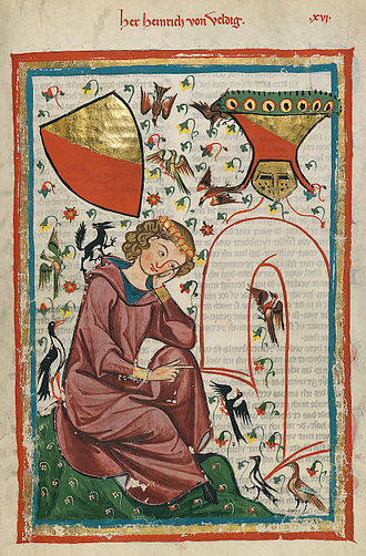 Flemish literature - Hendrik van Veldeke in the Codex Manesse, 14th century