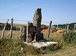 Monument à la mémoire du maquis de Bonnecombe au col de Bonnecombe dans les monts de l Aubrac en Lozère.