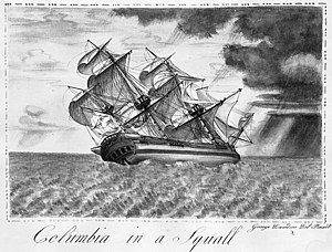Columbia Rediviva - Image: Columbia in a Squall