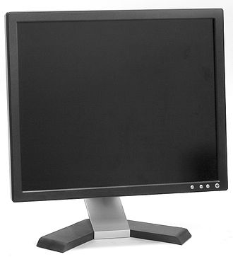 Computer monitor - A liquid crystal display (LCD) computer monitor