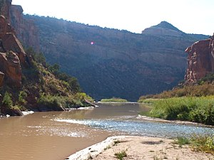 San Miguel River (Colorado) - Image: Confluence Of The San Miguel And Dolores Rivers, Sept 2012