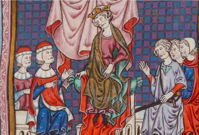 Conseil présidé par jacques II d'aragon.