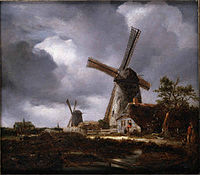 similar painting with windmills