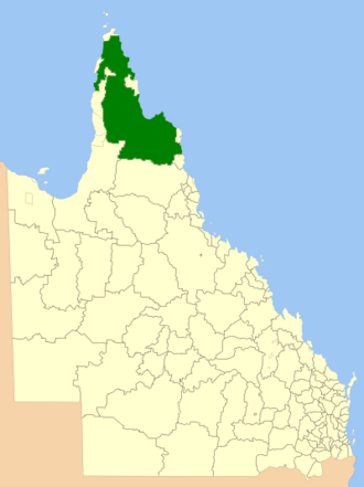 Shire of Cook - Location within Queensland
