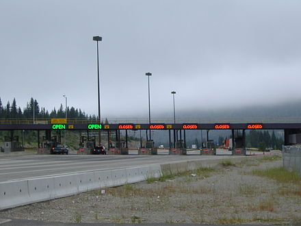 The Coquihalla Highway was one of the legacies of the Expo 86 world's fair, though creation of the toll highway sparked controversy. Tolling was removed in 2008. Coquilhalla Highway.jpg