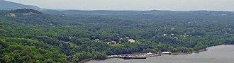 Cornwall-on-Hudson, New York - Cornwall-on-Hudson seen from Breakneck Ridge, across the river