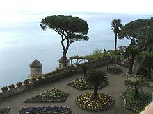 il Golfo di Salerno dai giardini di Villa Rufolo