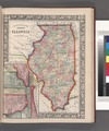 County map of the State of Illinois; Plan of Chicago (inset). NYPL1510816.tiff