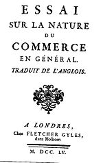 "Cover of ""Essai Sur La Nature du Commerce en Général"" by Richard Cantillon.jpg"