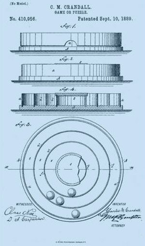 Charles Martin Crandall - illustration from patent