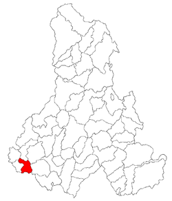 Location of Cristuru Secuiesc
