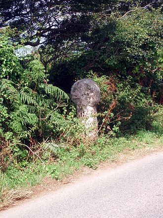 Penwith - Celtic cross near St Loy's Cove, St Buryan