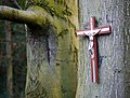 Crucifix by the Lagan - geograph.org.uk - 1622948.jpg