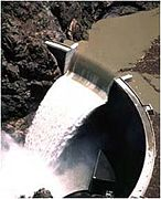 An ogee-type spillway at the Crystal Dam in Colorado