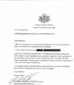 Culleton letter to Queensland Judiciary.png
