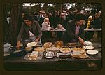 Cutting the pies and cakes at the barbeque dinner 1a34137v.jpg