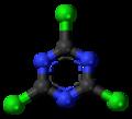 Cyanuric chloride 3D ball.png