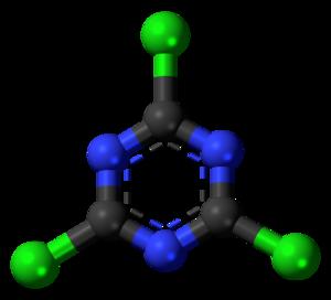 Cyanuric chloride - Image: Cyanuric chloride 3D ball