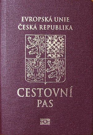 Czech nationality law - The cover of a biometric Czech passport