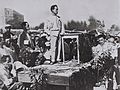 DAVID BEN GURION SPEAKING AT THE CORNERSTONE LAYING CEREMONY FOR THE HISTADRUT BUILDING IN JERUSALEM. דוד בן גוריון נושא דברים בטקס הנחת אבן פינה לבני.jpg